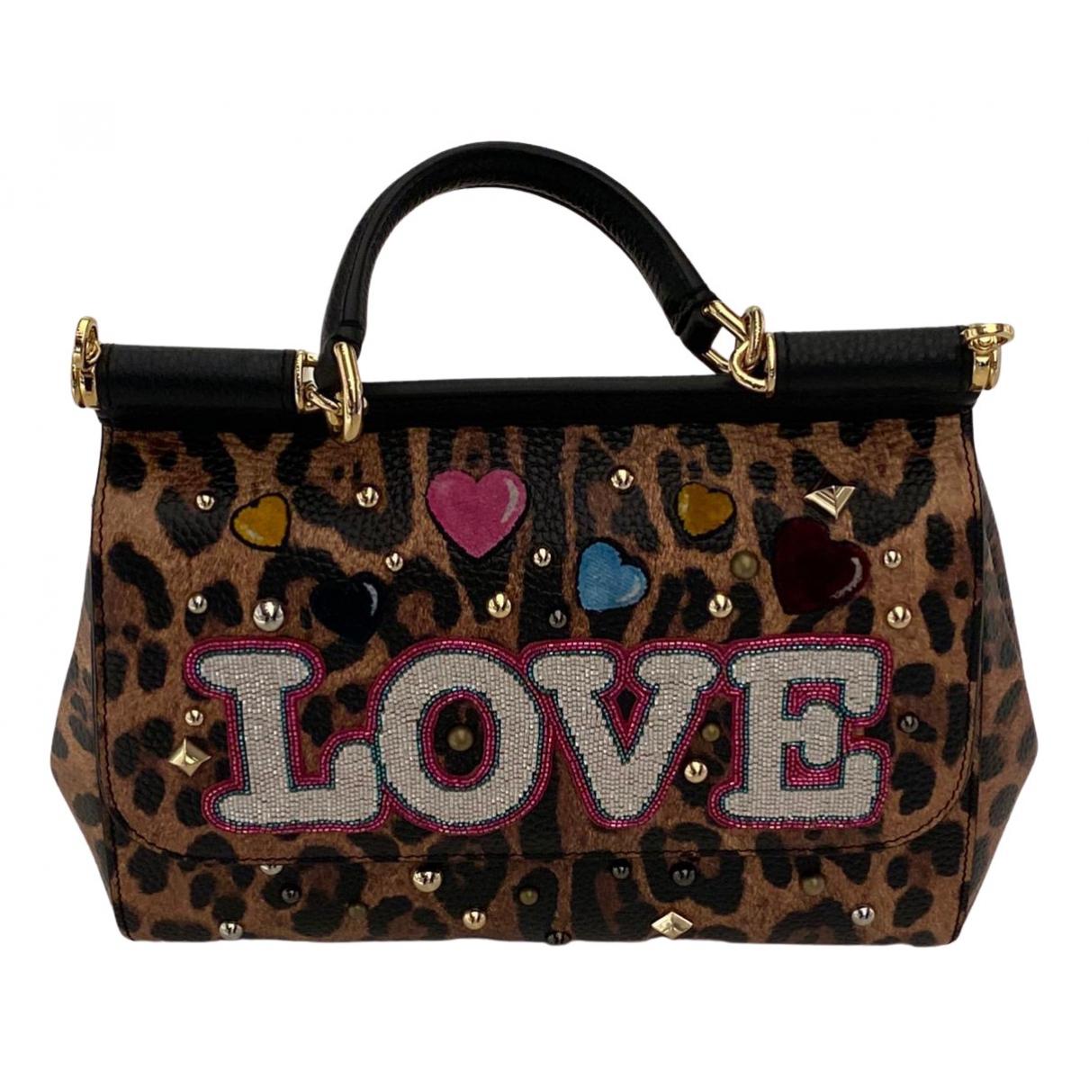 Dolce & Gabbana Sicily Brown Leather handbag for Women \N