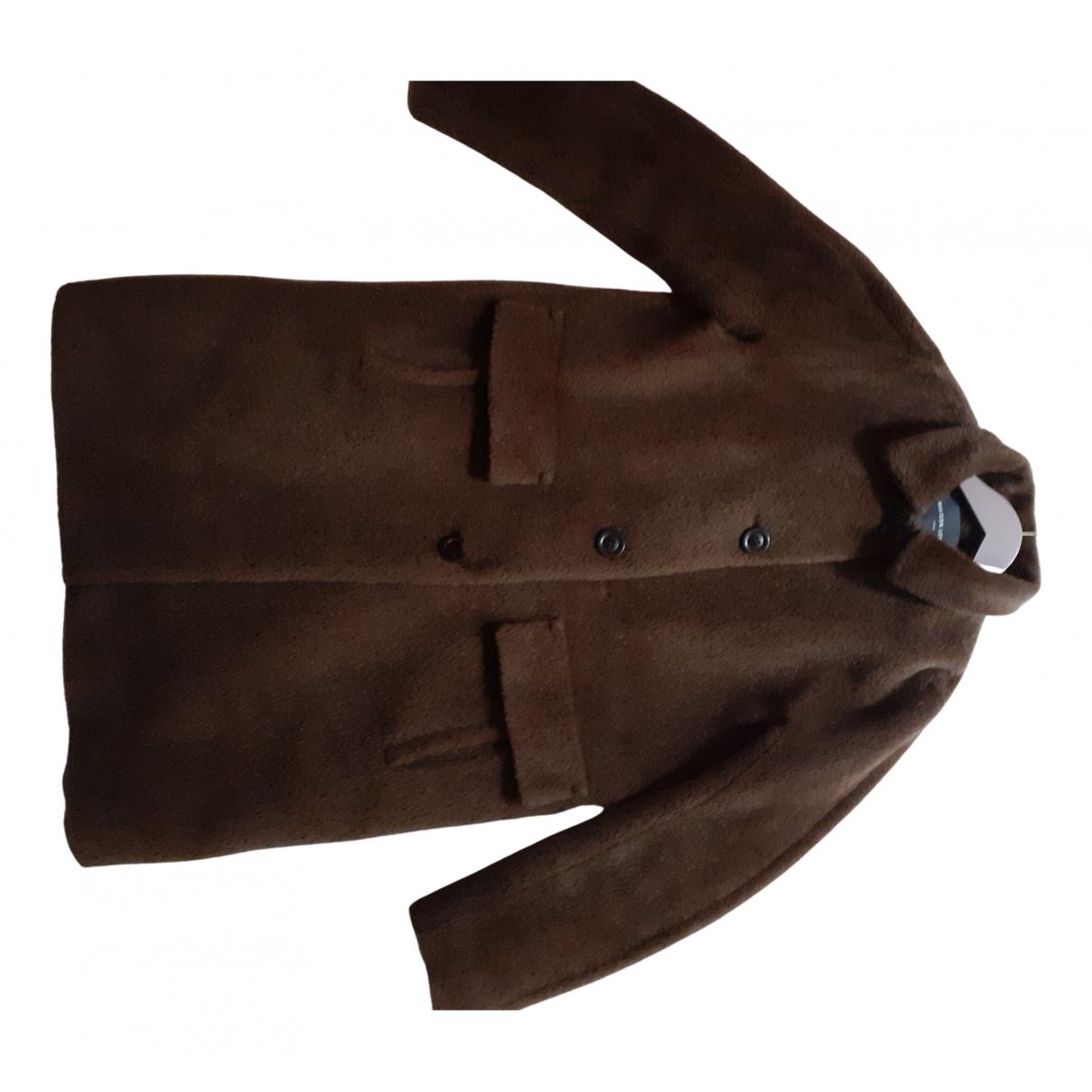 Maison Lener - Manteau   pour femme en laine - marron