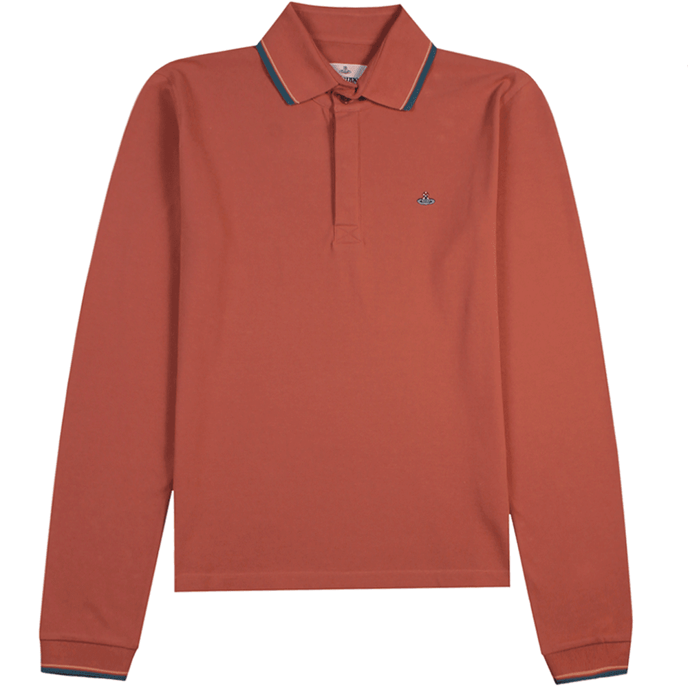 Vivienne Westwood Orb Logo Polo Shirt Colour: SALMON, Size: EXTRA EXTRA LARGE