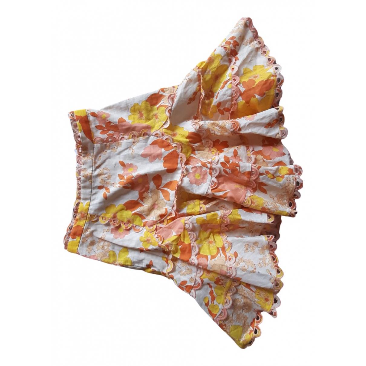 Zimmermann \N Orange Linen skirt for Women 1 0-5