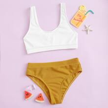 Bañador bikini de niñas de canale de dos colores