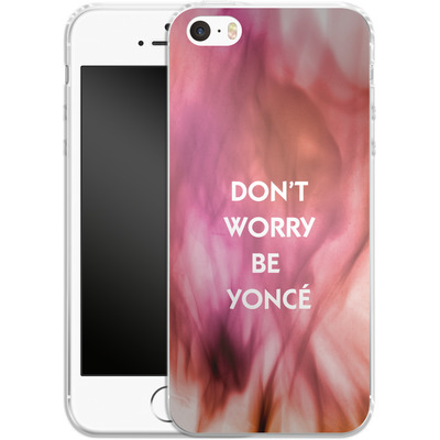 Apple iPhone 5 Silikon Handyhuelle - Dont Worry Be Yonce von Statements