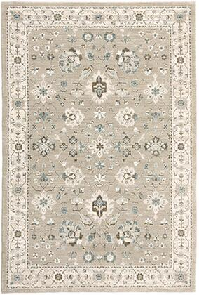 A8930L117170ST 3 3 X  5 2 Rectangle Rug with Oriental Pattern and Nylon/PolyPFiber