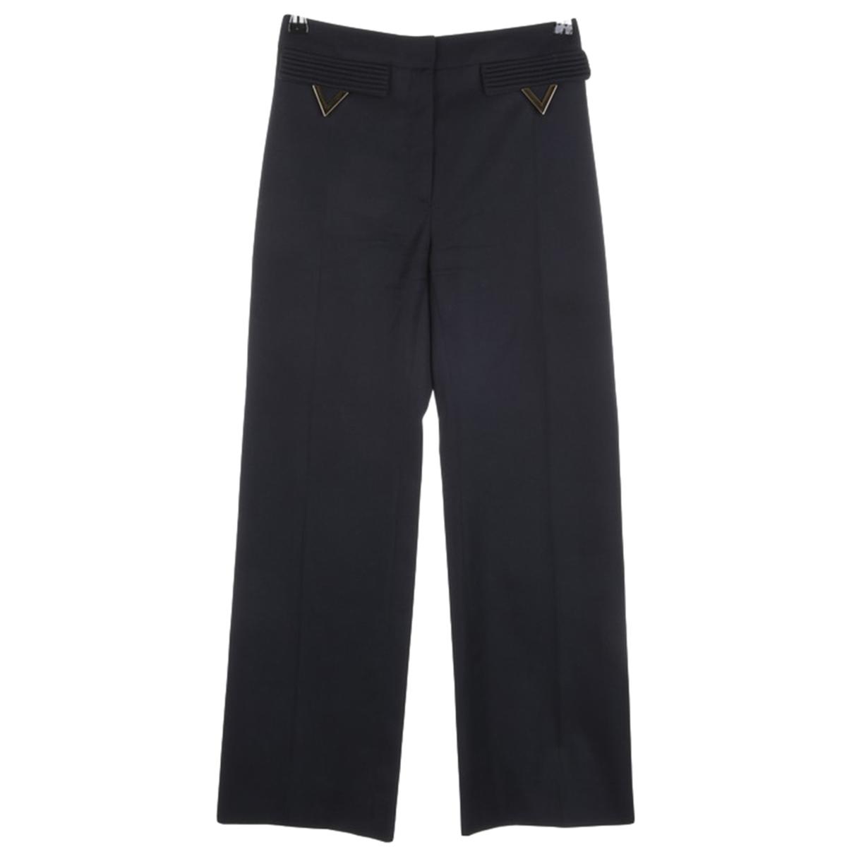 Valentino Garavani \N Black Wool Trousers for Women 34 FR