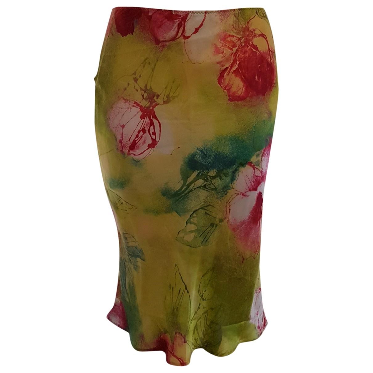 Roberto Cavalli \N Multicolour Silk skirt for Women 40 IT