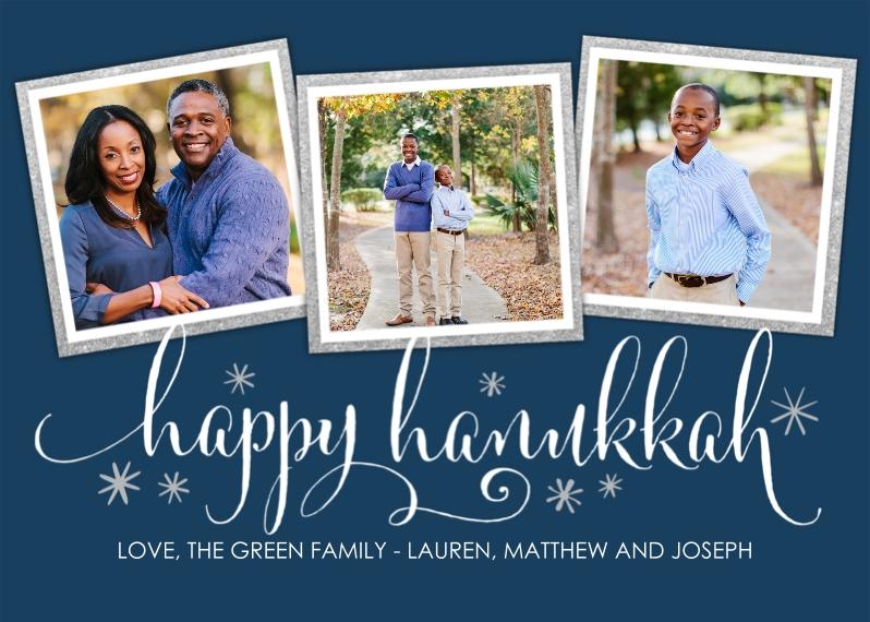 Hanukkah Photo Cards Flat Glossy Photo Paper Cards with Envelopes, 5x7, Card & Stationery -Hanukkah Sparkle