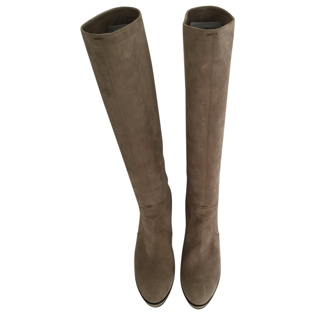 Tod's \N Grey Suede Boots for Women 38.5 EU