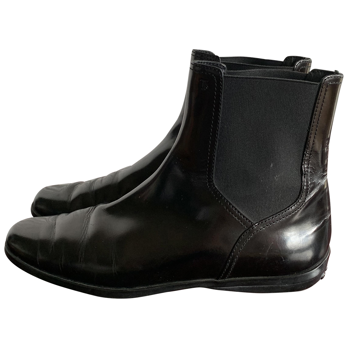 Tod's \N Black Patent leather Ankle boots for Women 37 EU