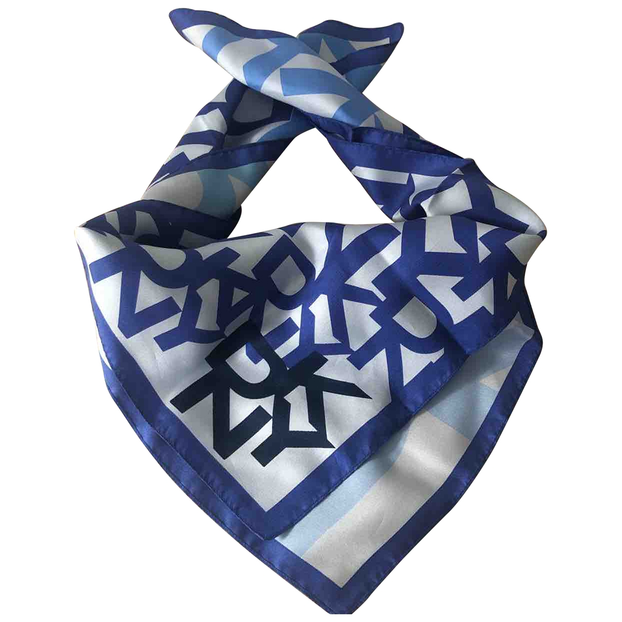Dkny - Foulard   pour femme en soie - bleu