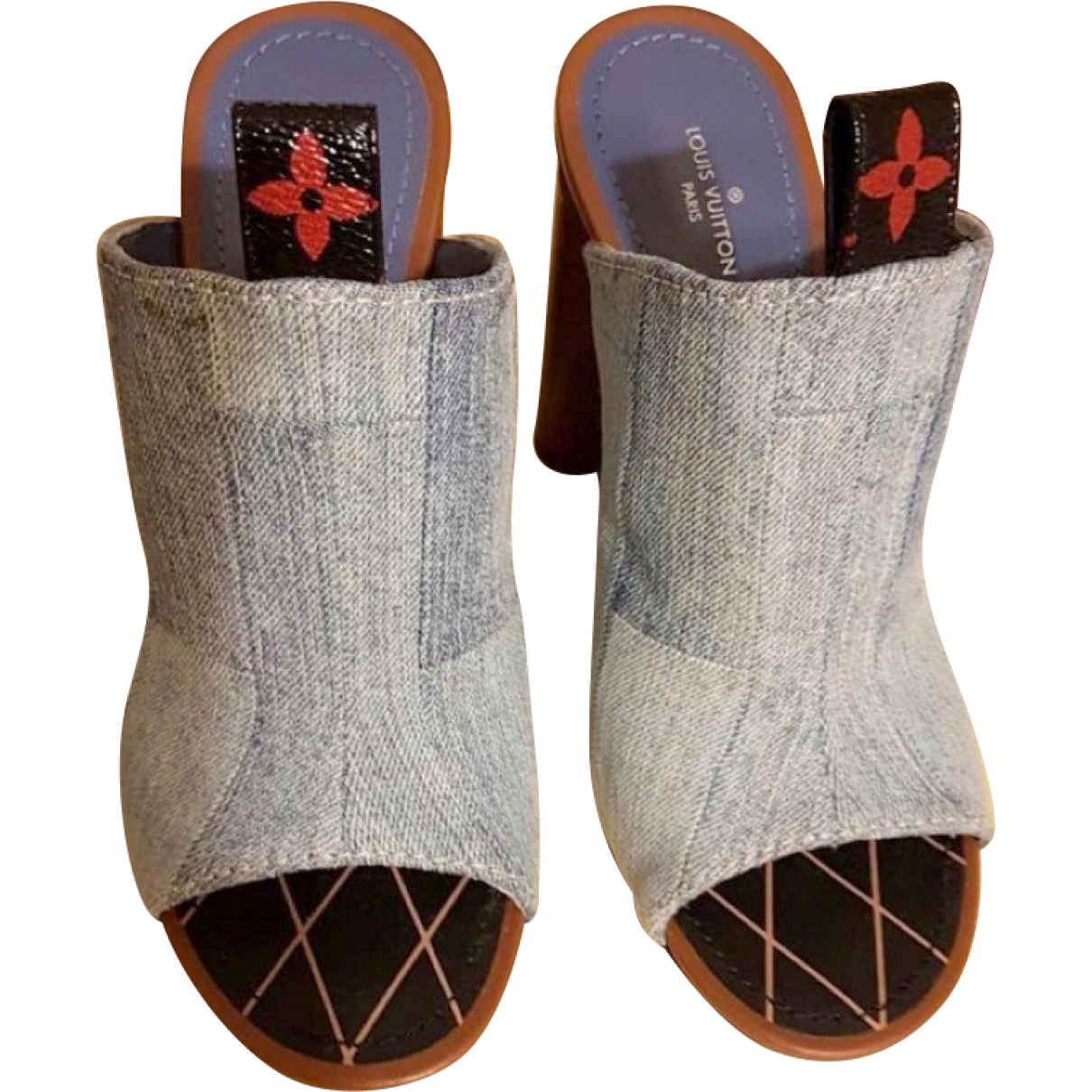 Louis Vuitton \N Blue Cloth Mules & Clogs for Women 36 EU