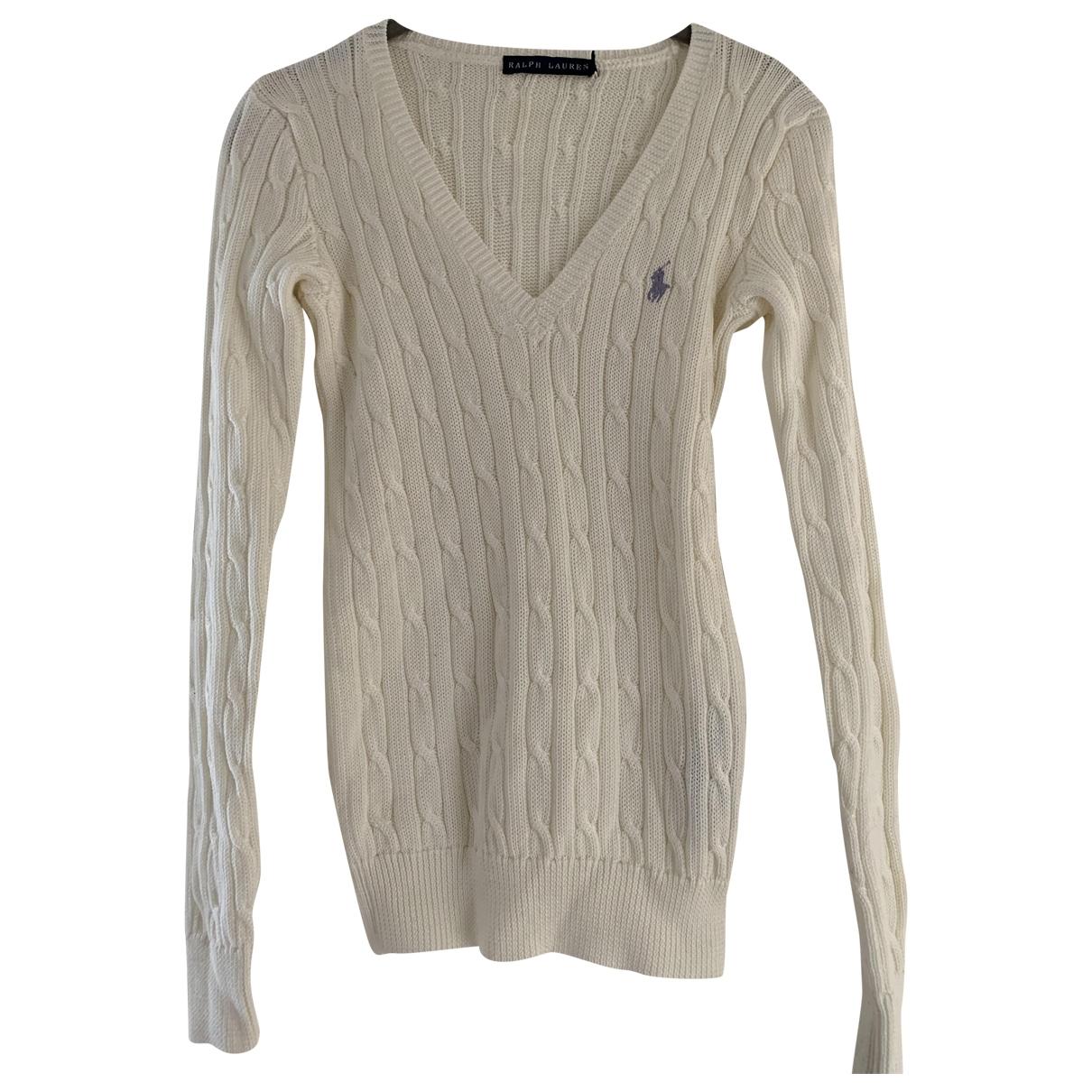 Ralph Lauren \N Ecru Cotton Knitwear for Women S International