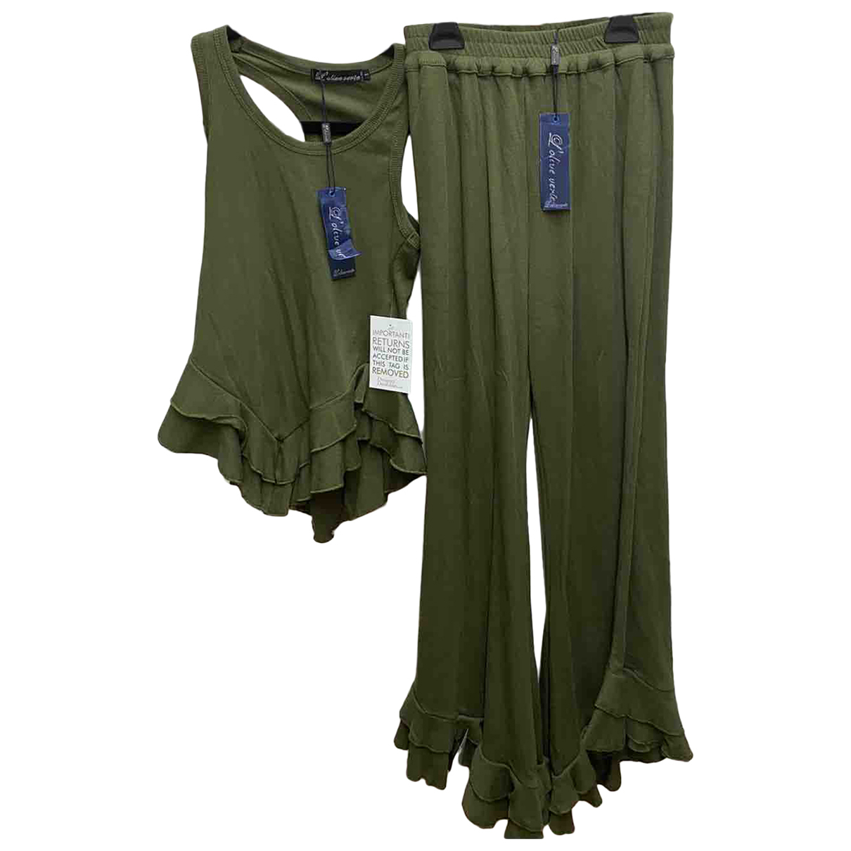 Non Signé / Unsigned \N Green jumpsuit for Women 8 UK