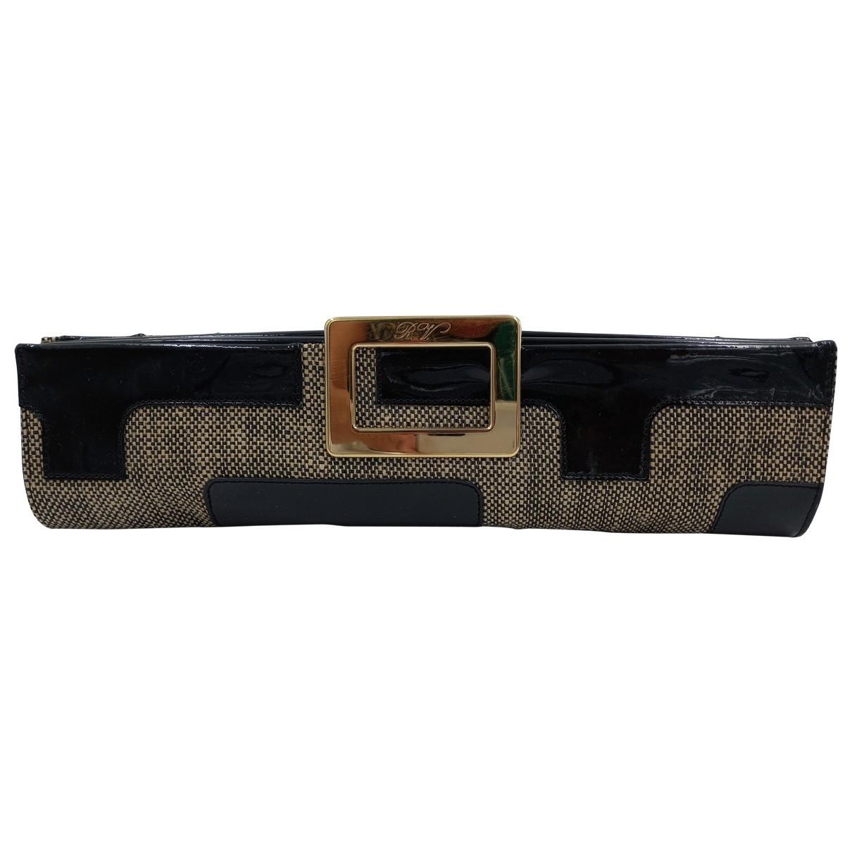 Roger Vivier \N Black Patent leather Clutch bag for Women \N