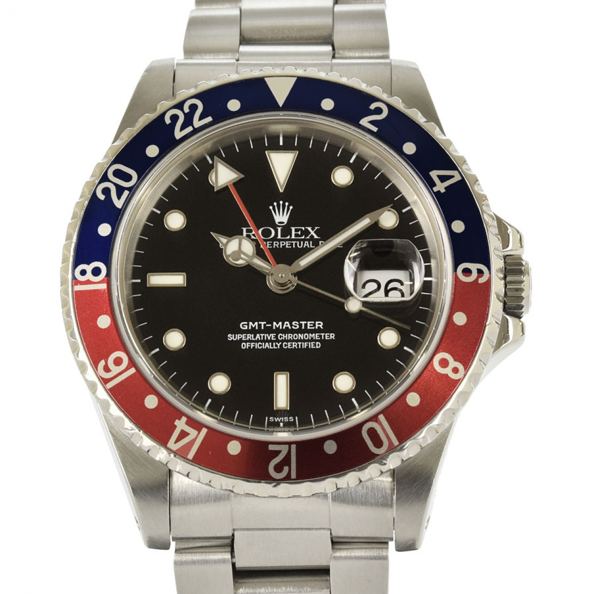 Rolex GMT Master Black Steel watch for Men \N