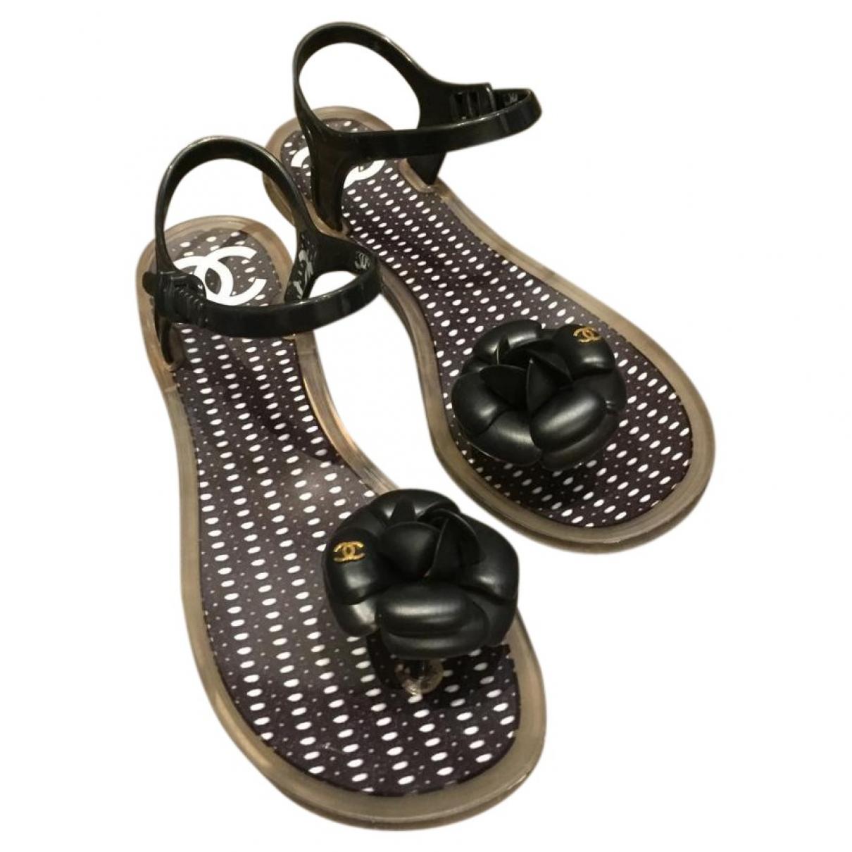 Chanel \N Sandalen in  Schwarz Kunststoff