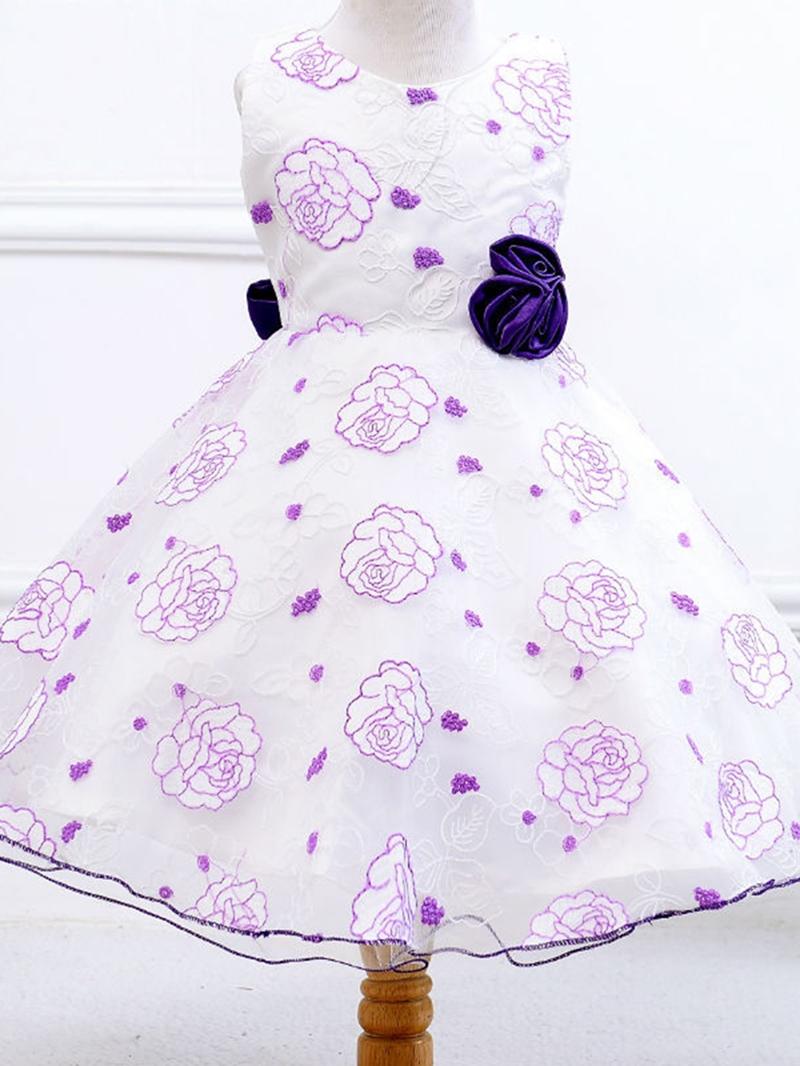 Ericdress Floral Lace Sleeveless Tutu Girls Dress
