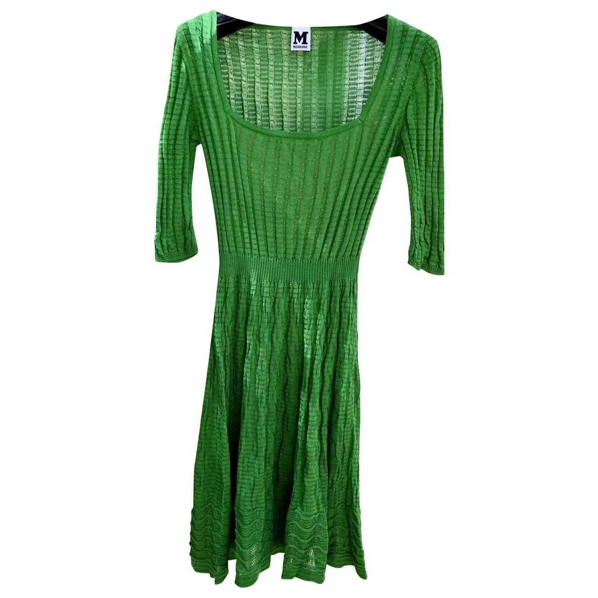 M Missoni \N Kleid in  Gruen Baumwolle