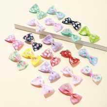 20pcs Toddler Girls Bow Design Hair Clip