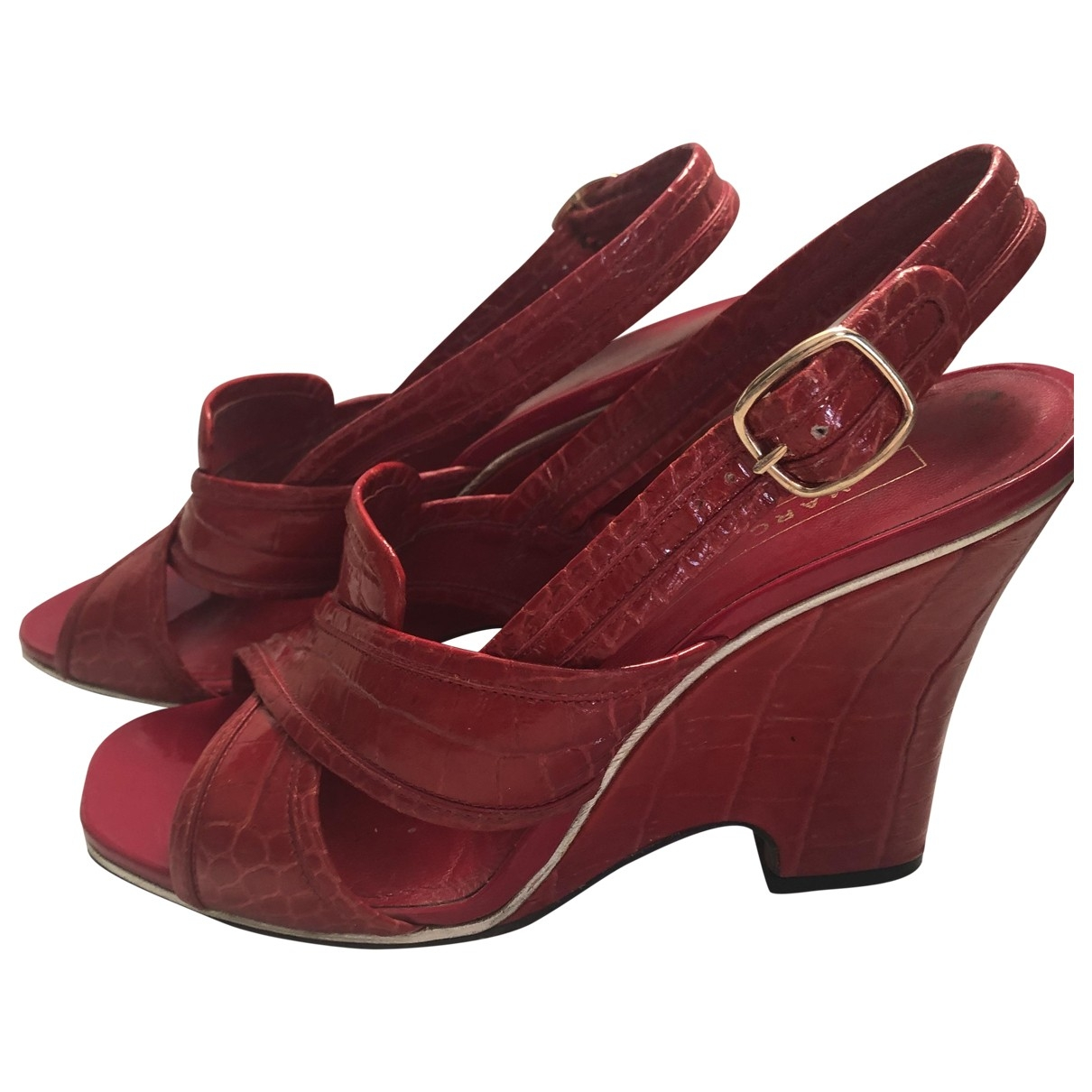 Marc Jacobs \N Red Patent leather Sandals for Women 38 EU