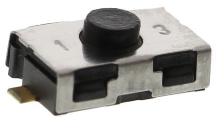 C & K IP50 Black Button Tactile Switch, NO 10 mA @ 32 V dc 0.8mm Surface Mount (10)