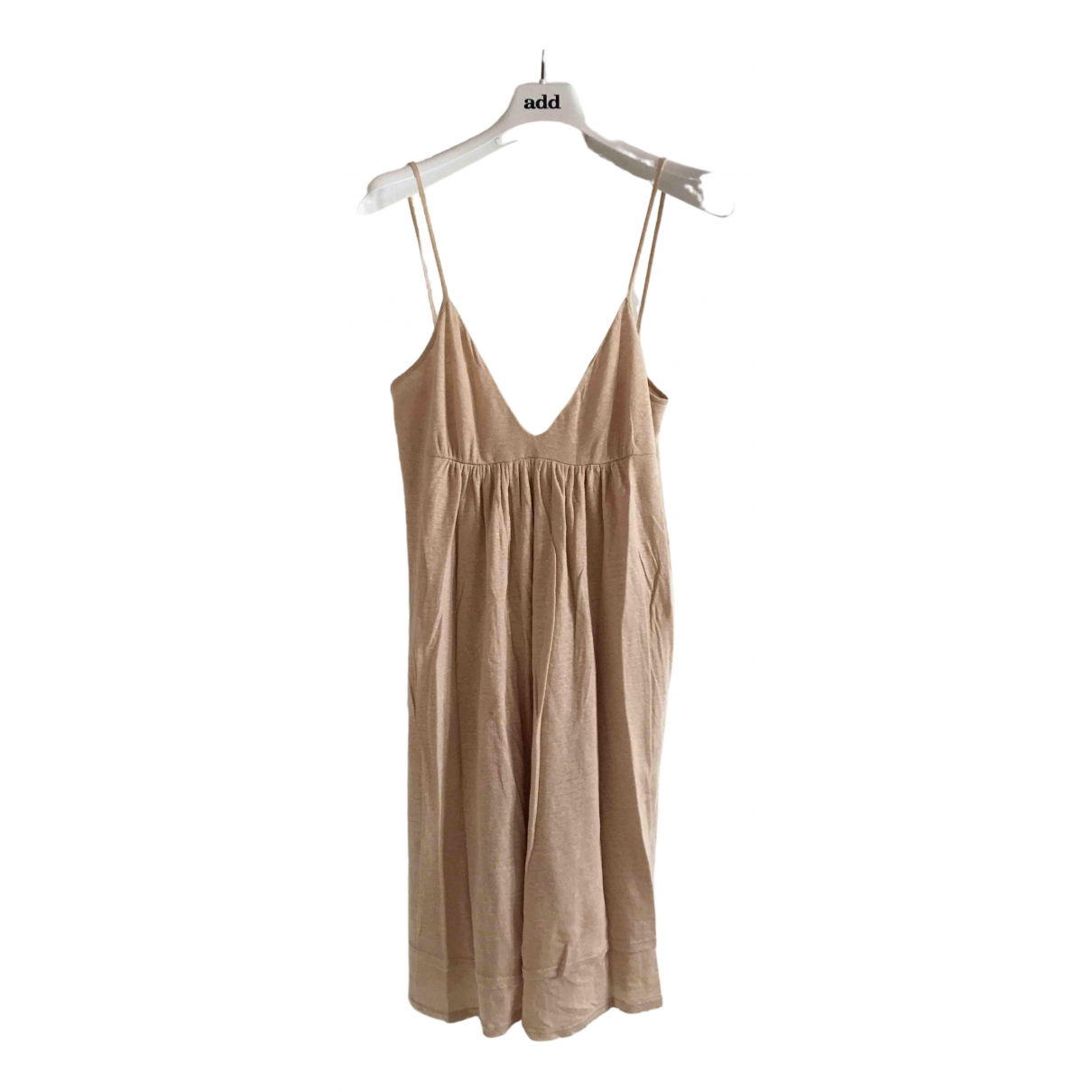 Max & Co \N Kleid in  Beige Leinen