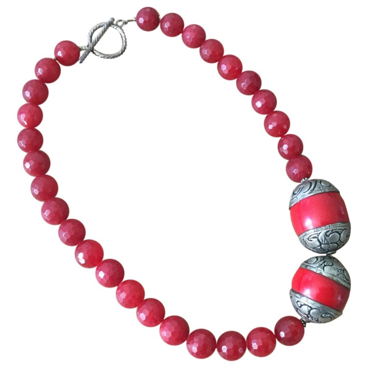 Non Signé / Unsigned Motifs Ethniques Red Metal necklace for Women \N