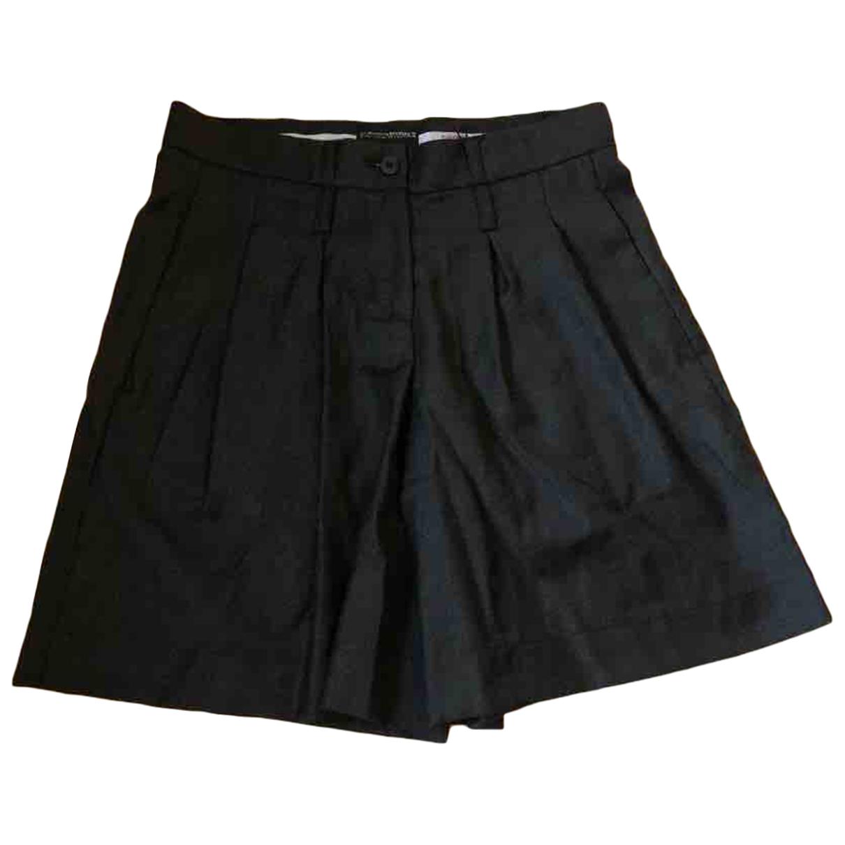 Emporio Armani N Grey Wool Shorts for Women 38 IT