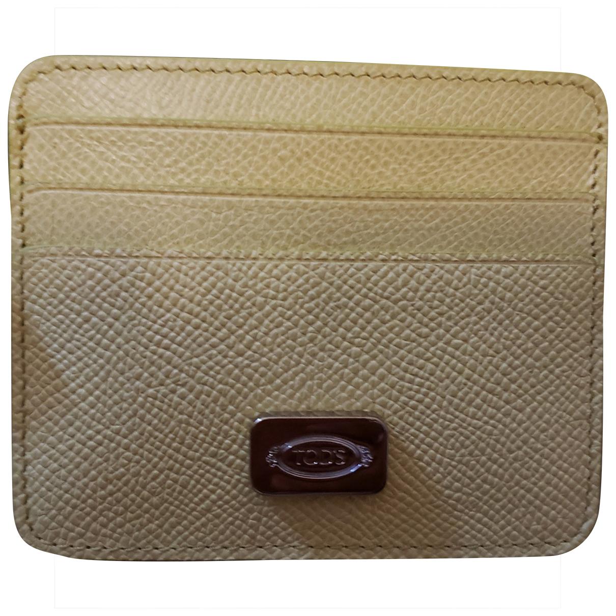 Tods - Portefeuille   pour femme en cuir - jaune