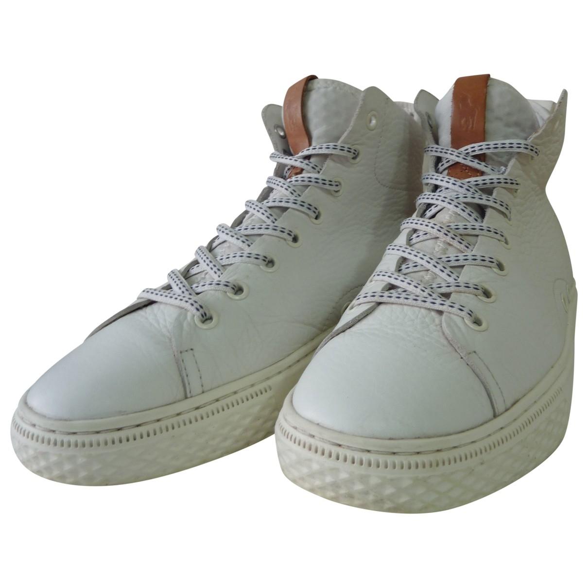 Polo Ralph Lauren \N Sneakers in  Weiss Leder