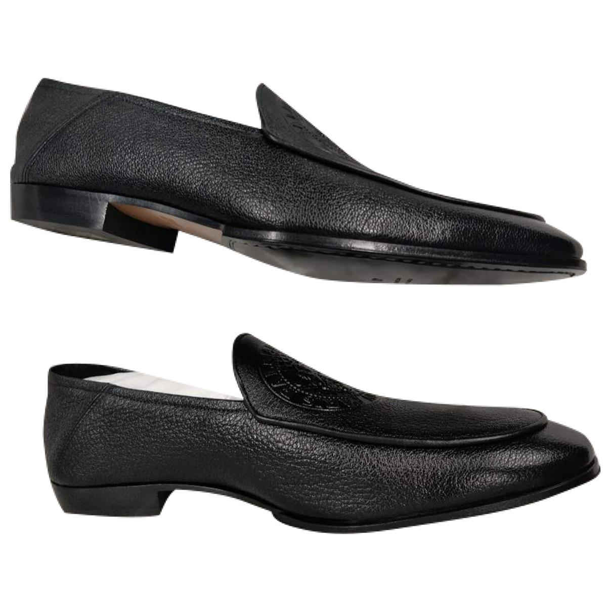 Balmain \N Black Leather Flats for Men 43 EU