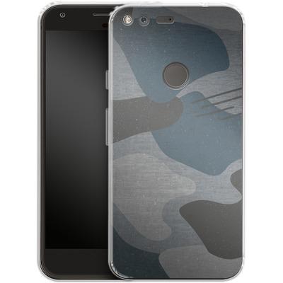 Google Pixel XL Silikon Handyhuelle - Marine Camo von caseable Designs