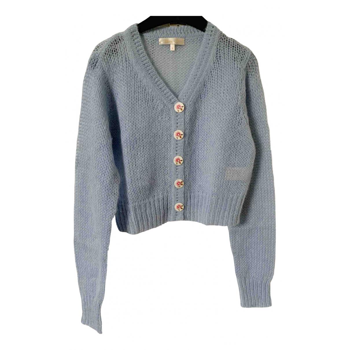 Love Shack Fancy - Pull   pour femme en laine - bleu