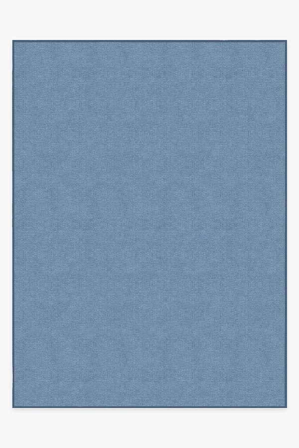 Washable Rug Cover & Pad | Heathered Solid Chambray Rug | Stain-Resistant | Ruggable | 9'x12'