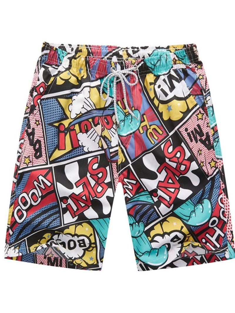 Ericdress Print Letter Straight Casual Men's Pants