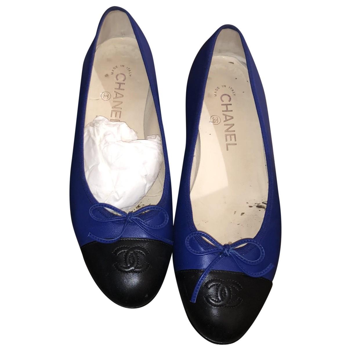 Chanel \N Blue Leather Ballet flats for Women 39 EU