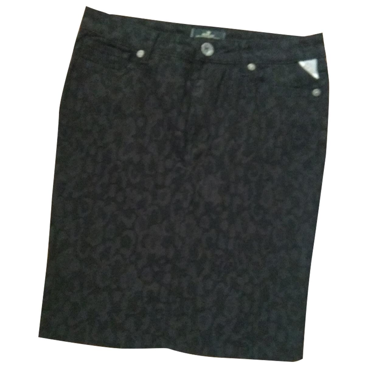 Replay - Jupe   pour femme en coton - elasthane - noir