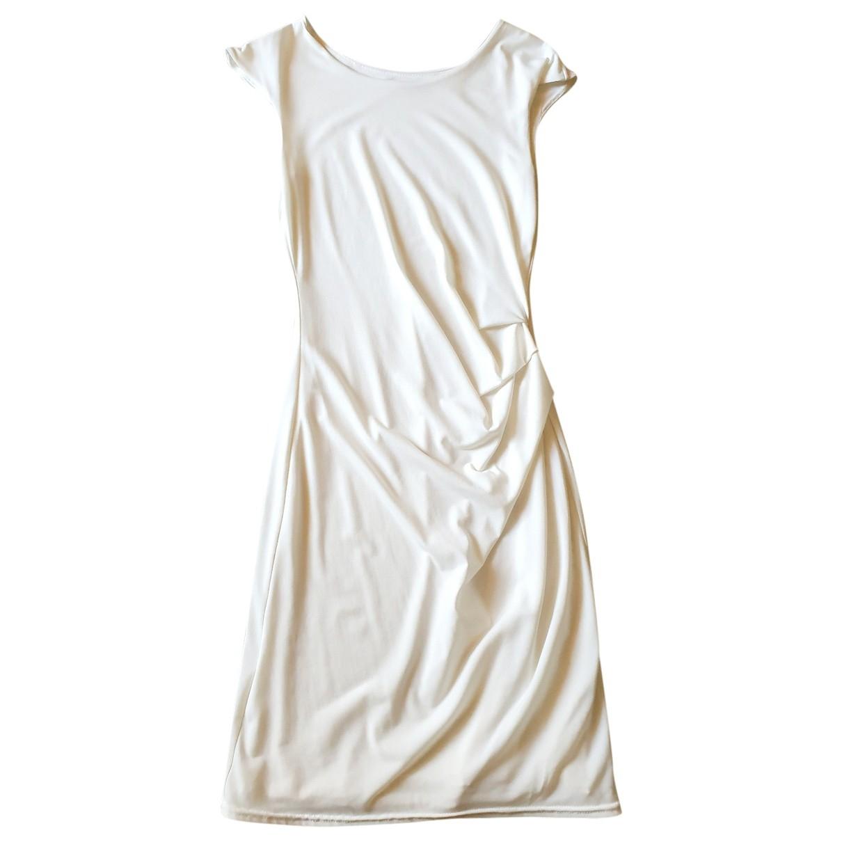 Zapa \N Kleid in  Weiss Polyester