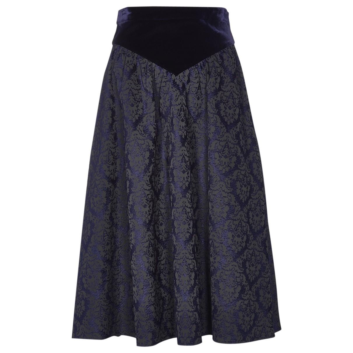 Givenchy - Jupe   pour femme en soie - marine
