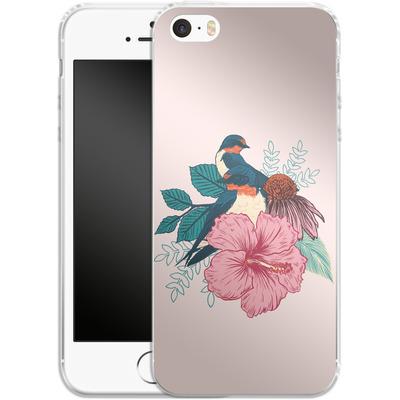 Apple iPhone SE Silikon Handyhuelle - Barn Swallows von Mat Miller