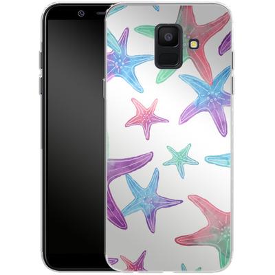 Samsung Galaxy A6 Silikon Handyhuelle - Starfish Print von Becky Starsmore