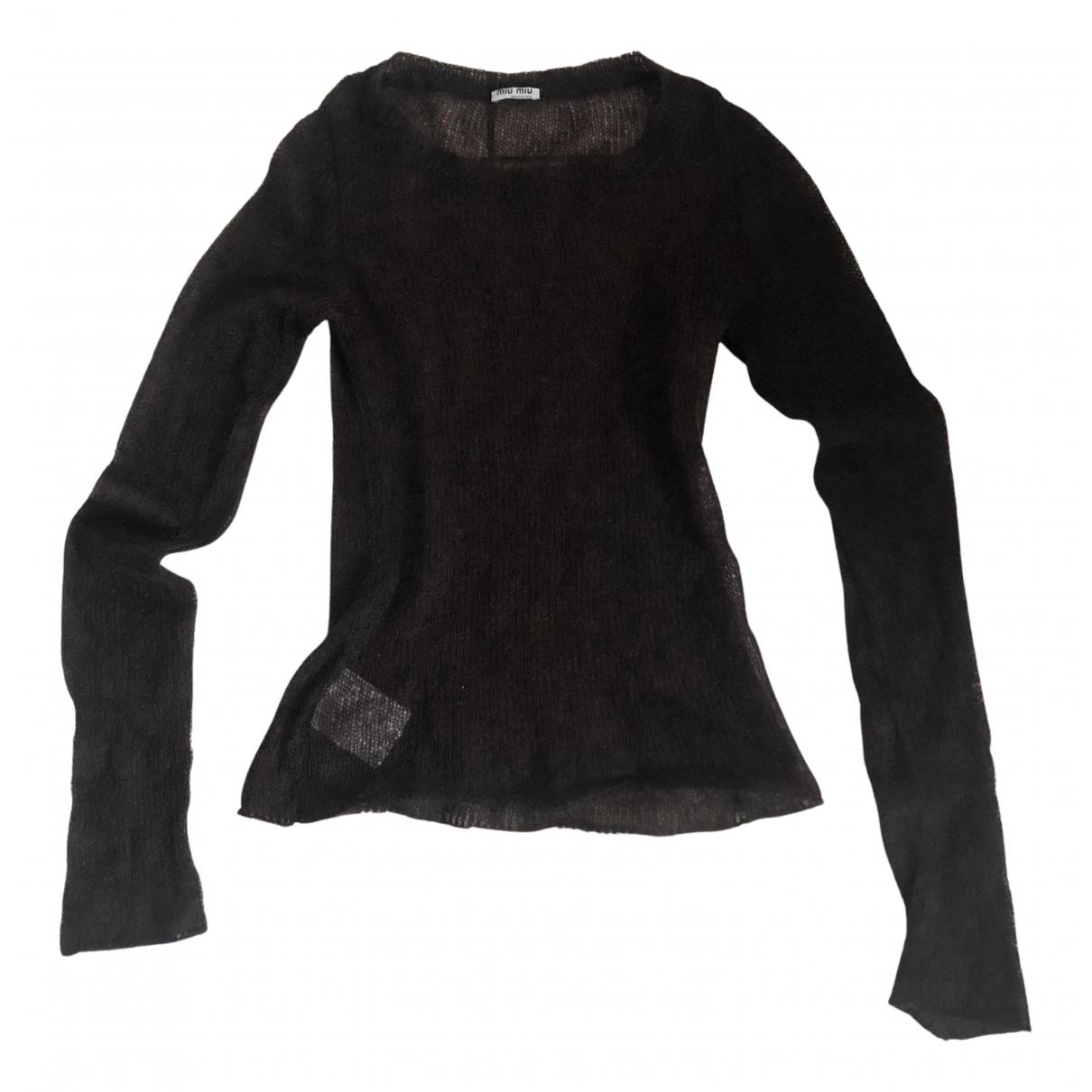 Miu Miu - Pull   pour femme en laine - marron
