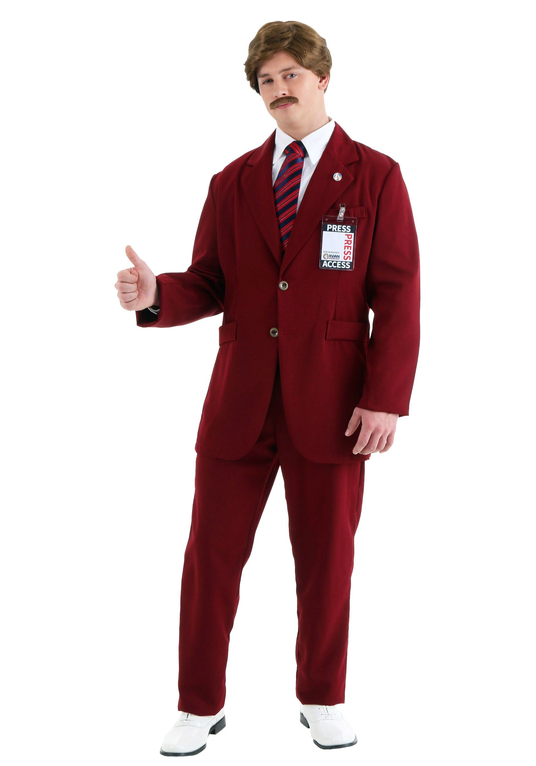 Deluxe Ron Burgundy Costume Suit
