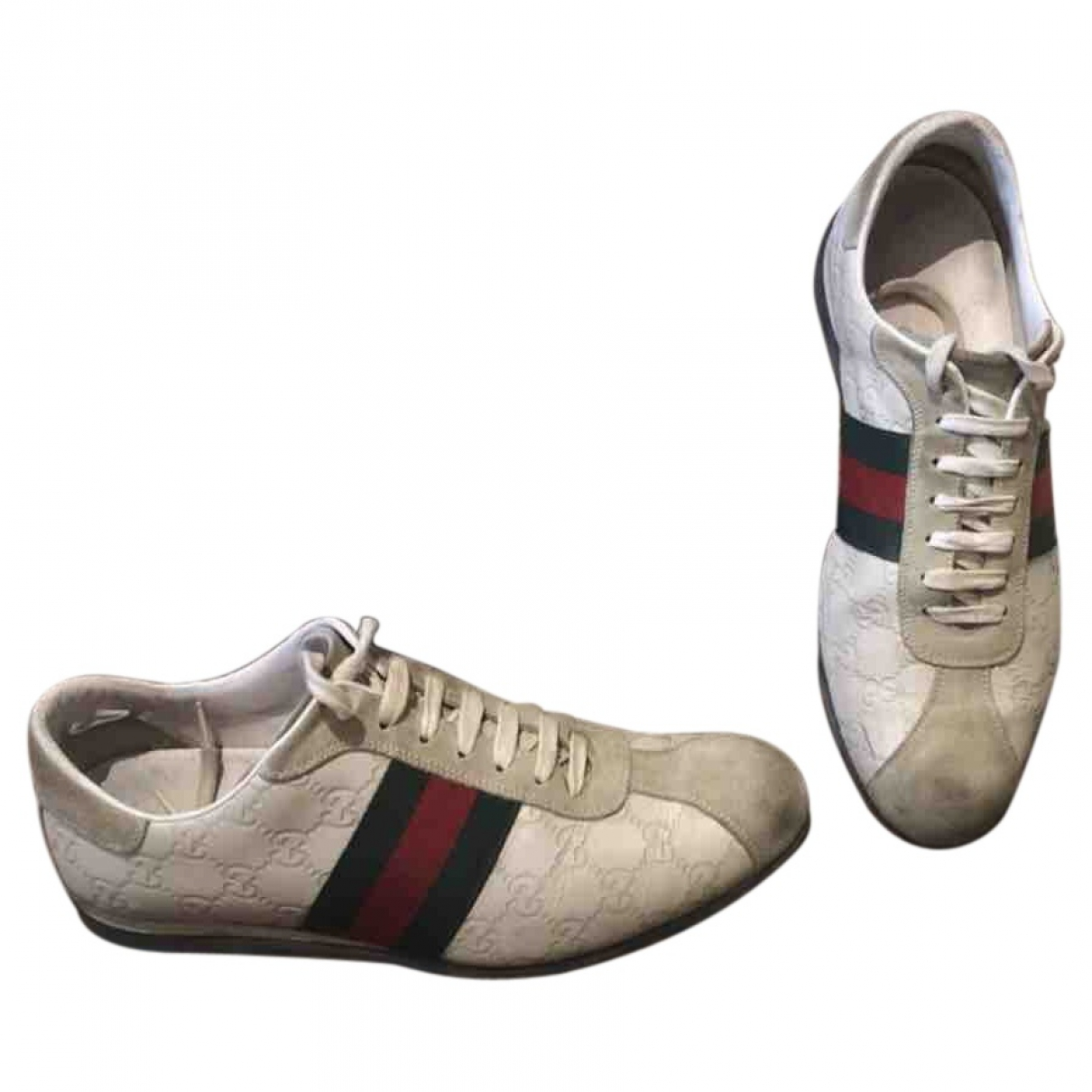 Gucci Ace White Cloth Trainers for Men 7 UK