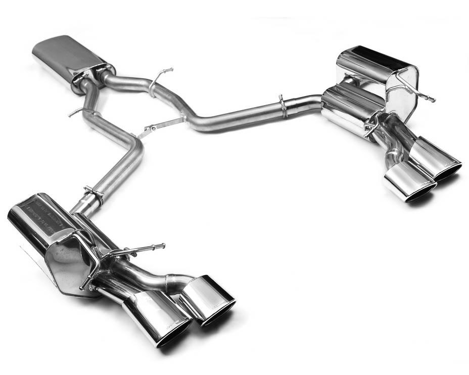 Eisenmann Stainless Catback Exhaust 4x120x77mm Oval Tips Mercedes-Benz C300 10-11
