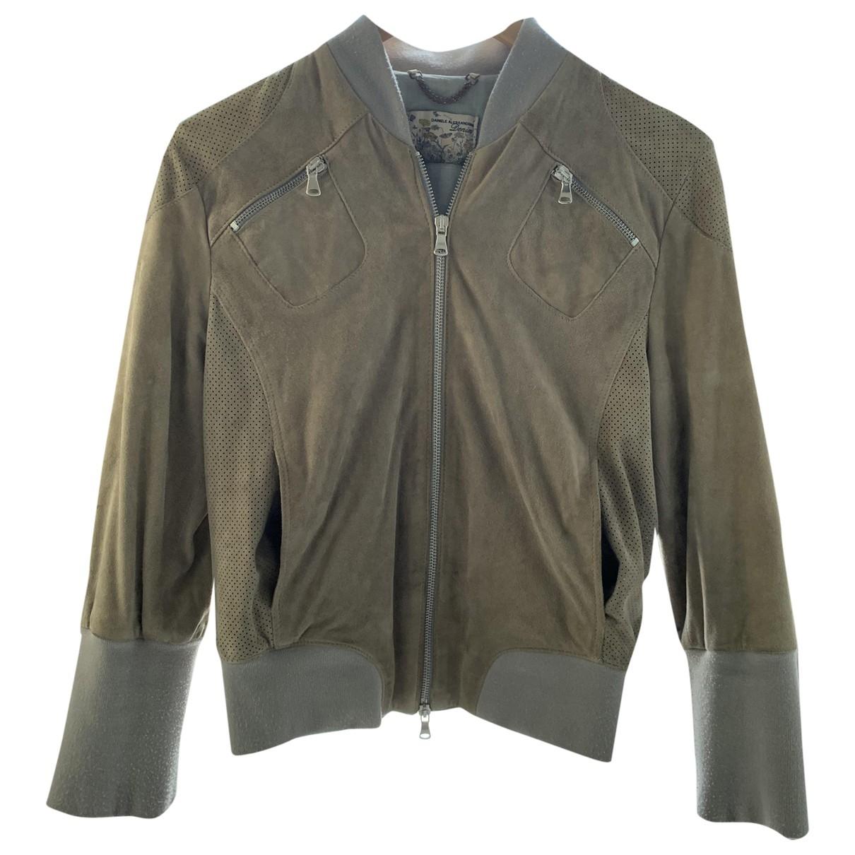 Daniele Alessandrini \N Ecru Suede Leather jacket for Women 42 IT