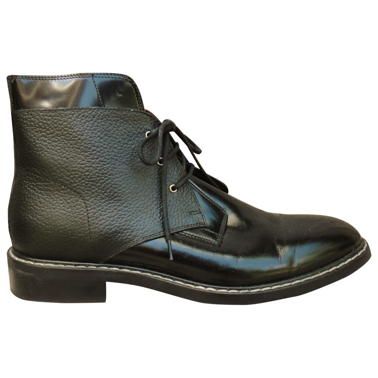 Mm6 \N Stiefeletten in  Schwarz Leder