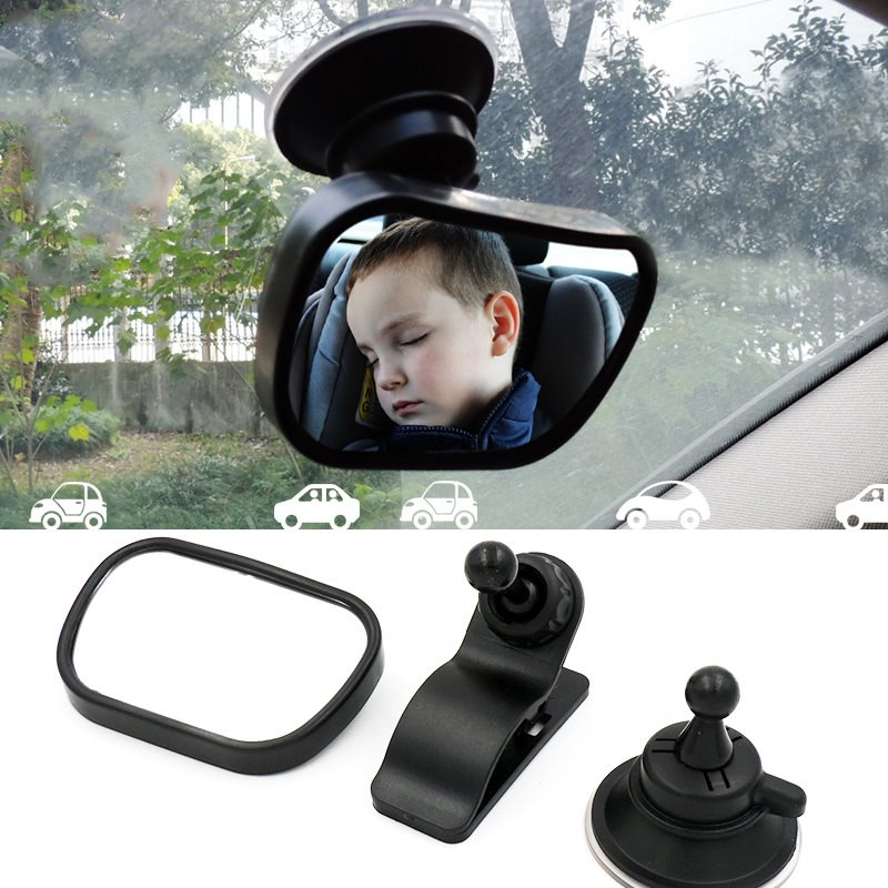 Suction Cup And Holder Vehicle-mounted Baby Safe Observation Mirror Rearview Mirror
