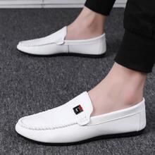 Maenner Minimalistische Slip On Loafers