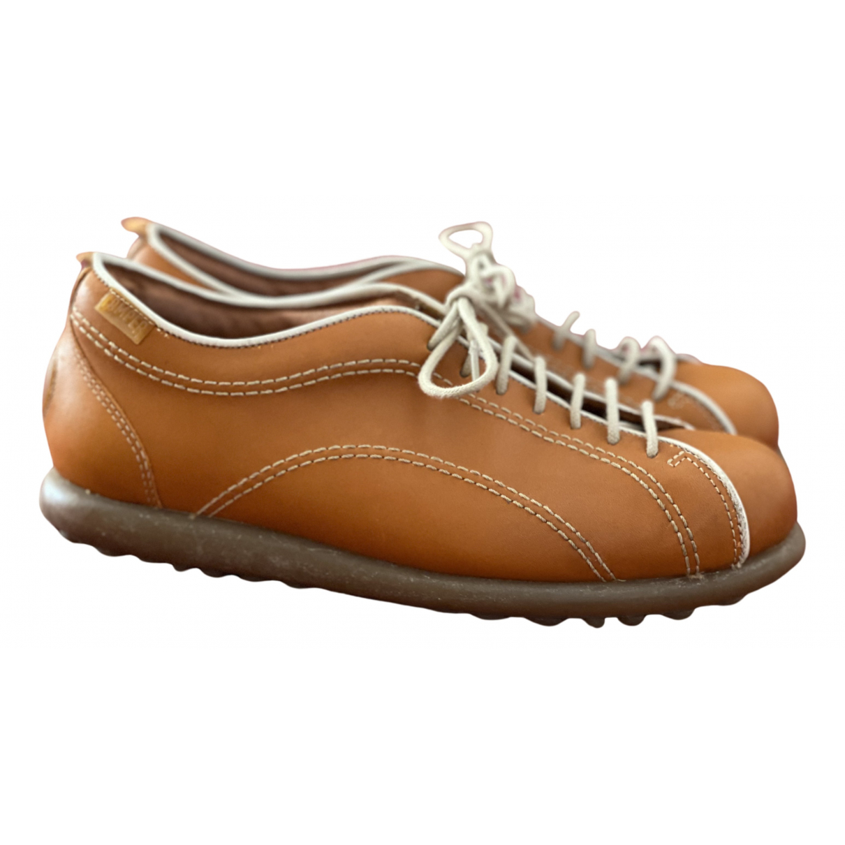 Camper N Orange Leather Trainers for Women 6 UK
