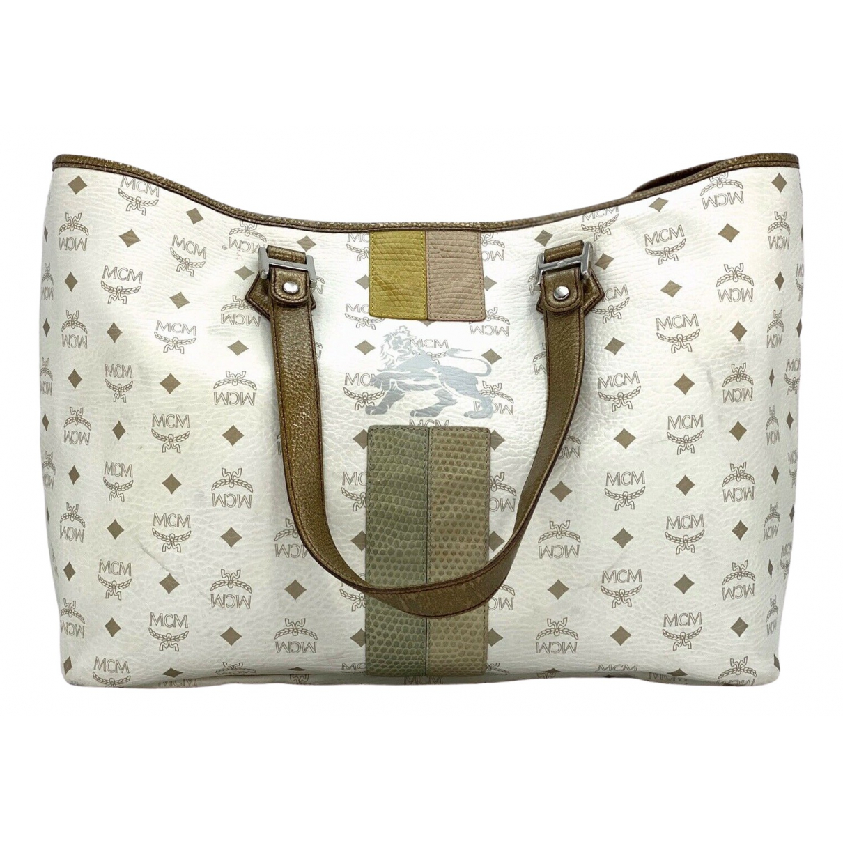 Mcm \N White Leather handbag for Women \N